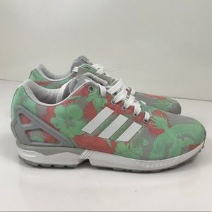 a1955200c52d4 Adidas ZX Flux Light Onix Shoes white pink floral